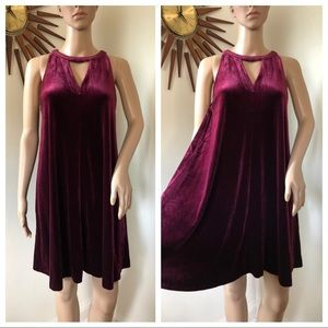 Velour A-line Dress perfect for the holidays!